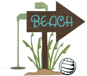 Beach bordje